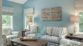 turquoise and parchment decor